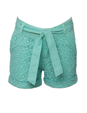 The Knot Shorts in Green Colour for Girls