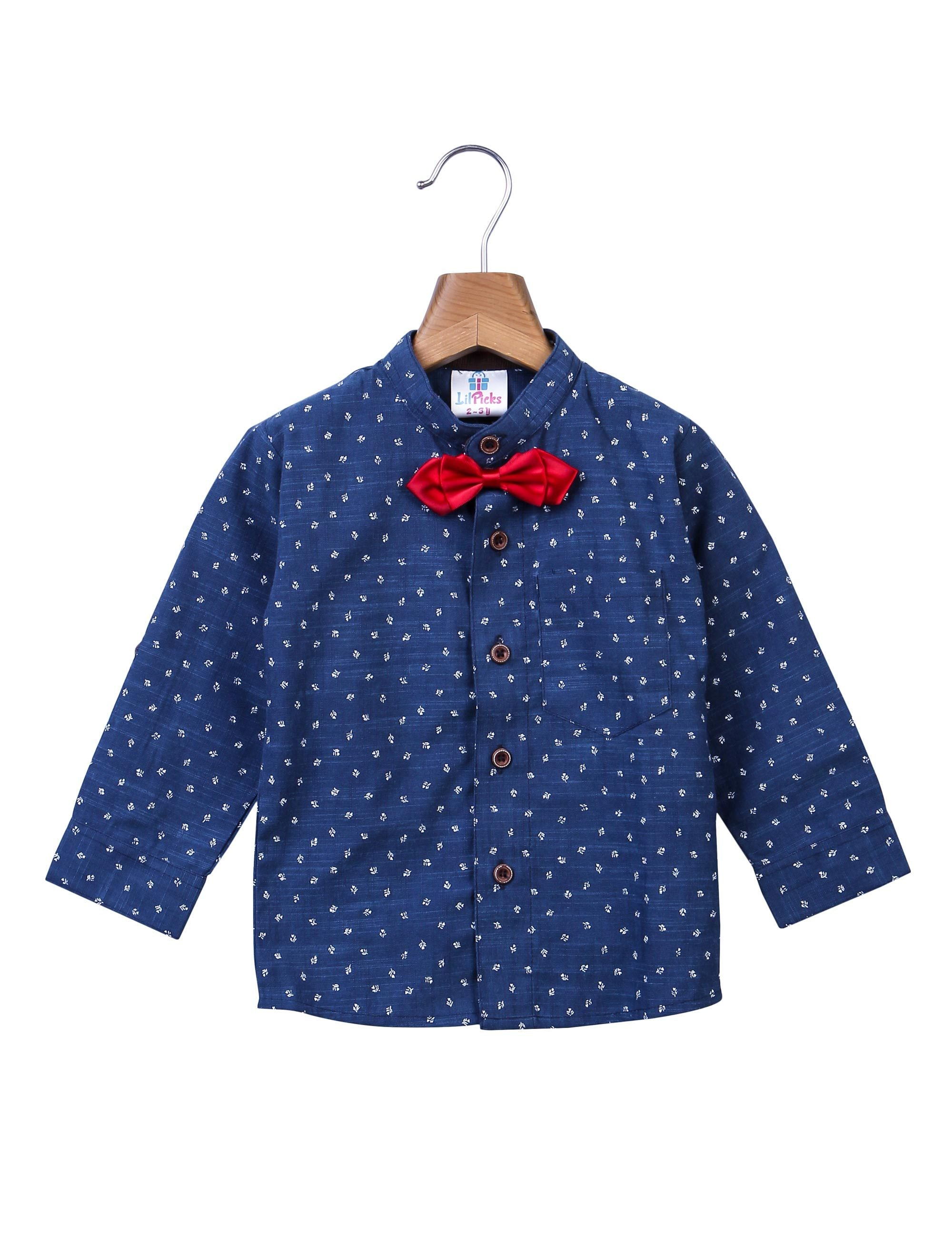Cotton Shirt with a bow for boys