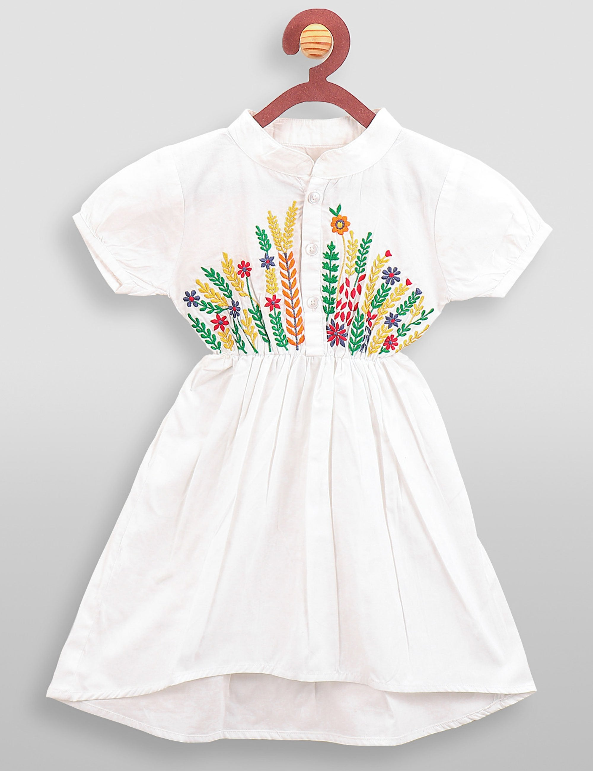 White Embrodiery Dress