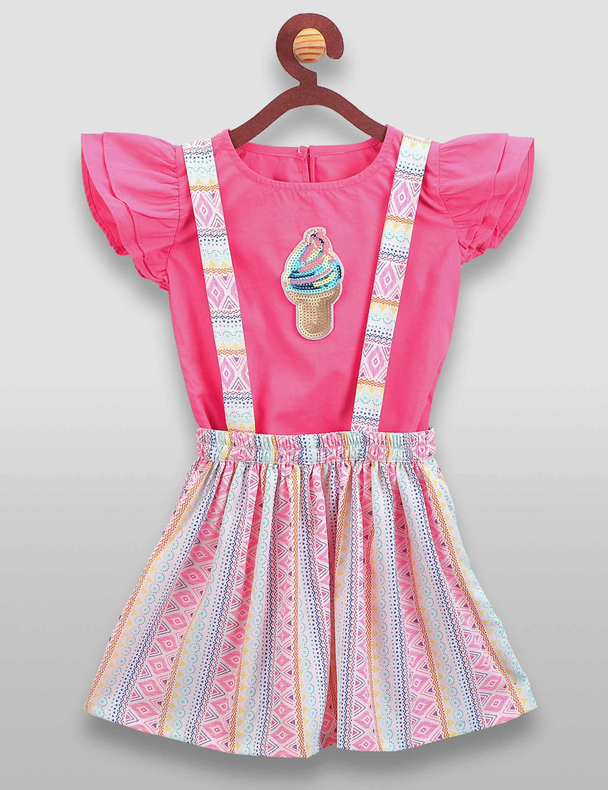Funky Ice-Cream Dungaree Set