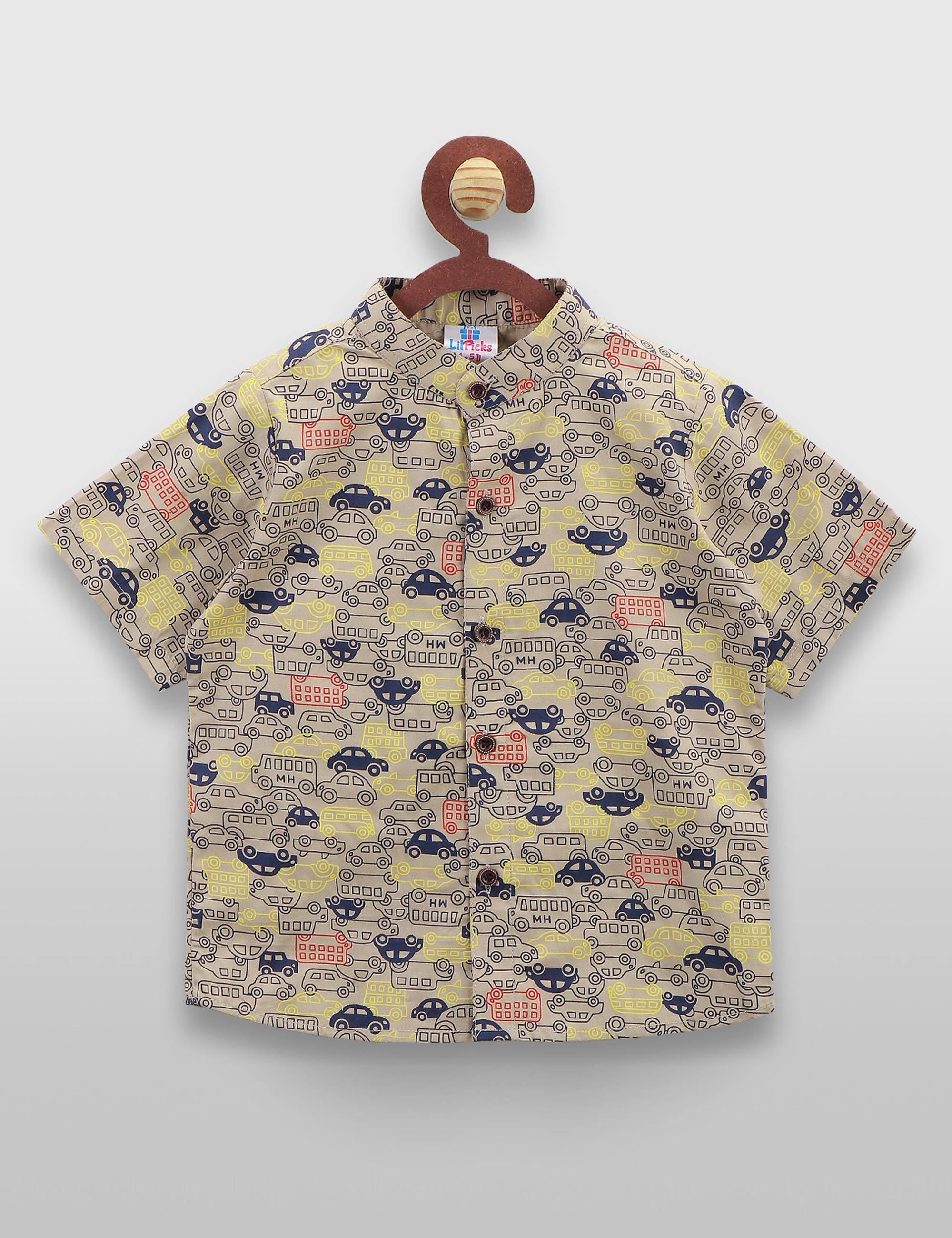 Motor car printed shirt