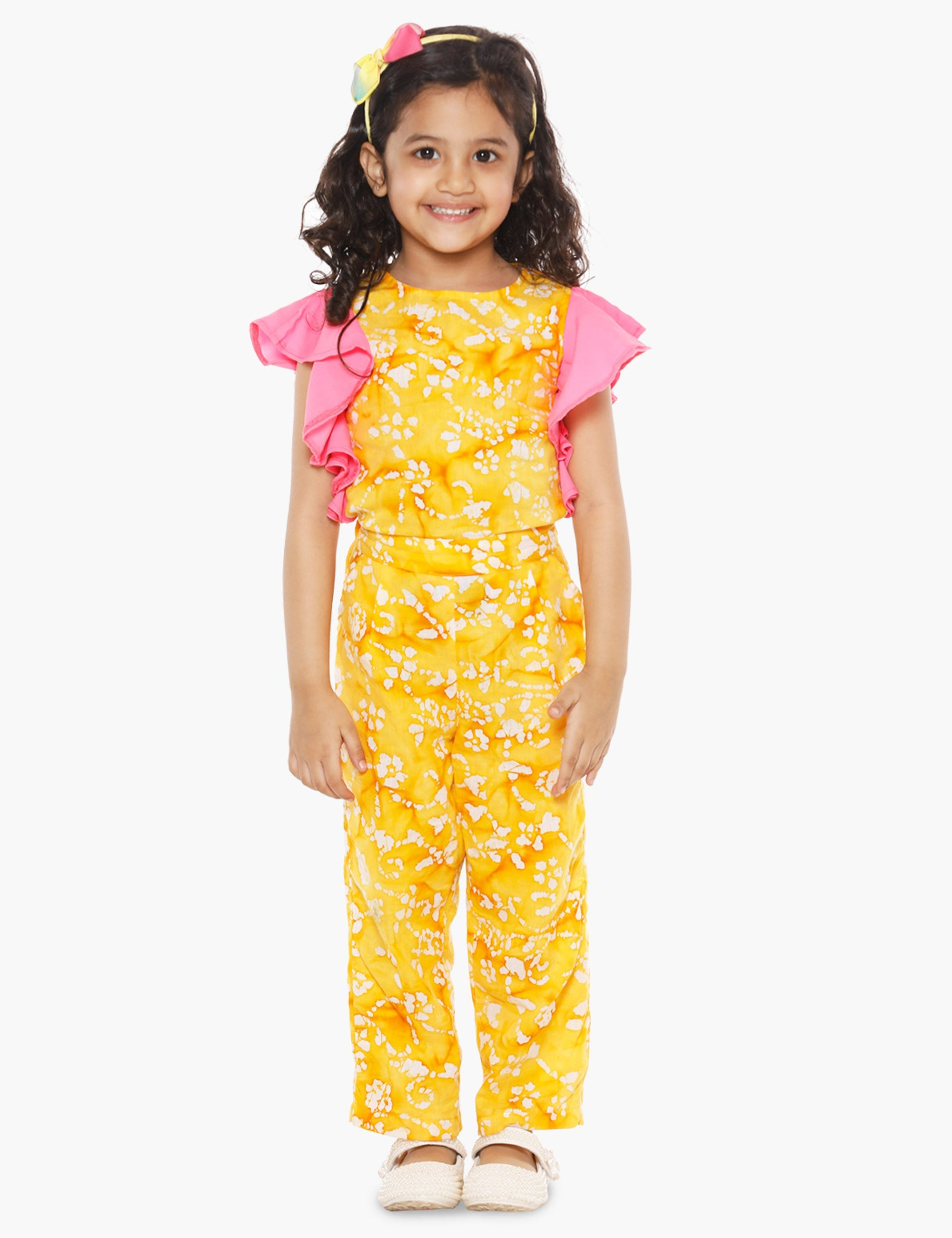 d916e4f69b Buy Yellow Frilly Full Jumpsuit. at best Price - Mini Firgun