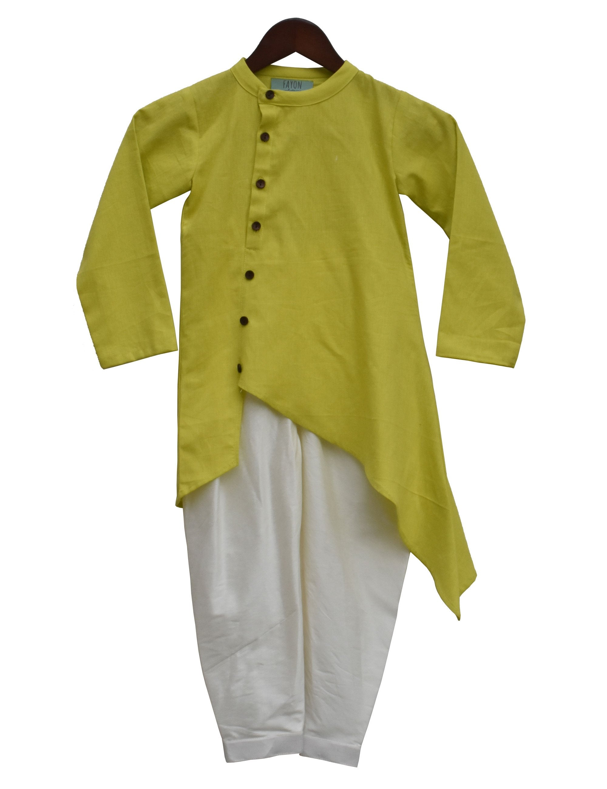 Kurta with Salwar in Green Colour for Girls