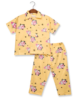 Printed Penguin Night Suit for Boys