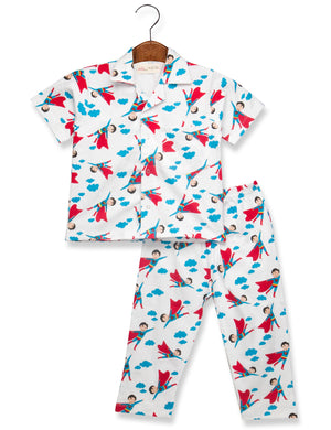 Printed Superman Night Suit for Boys
