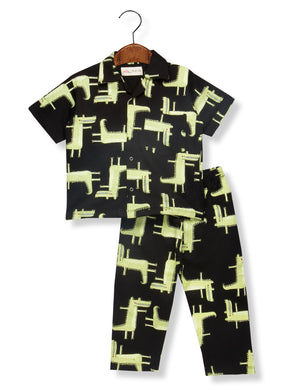 Printed Crocodile Night Suit for Boys