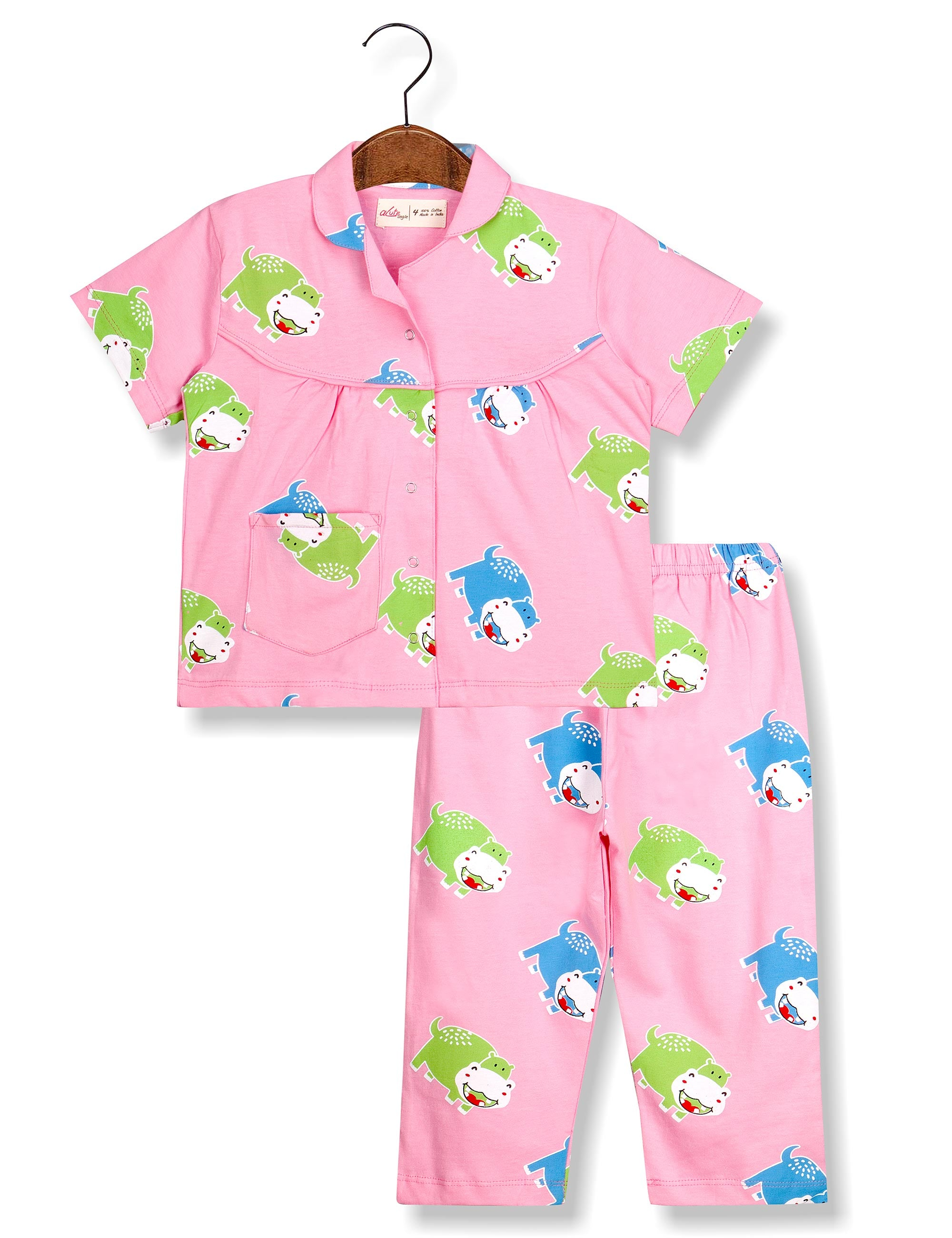 7b8bfbc826e Buy Acute Angle Hippo Night Suit for Girls at best Price - Mini Firgun