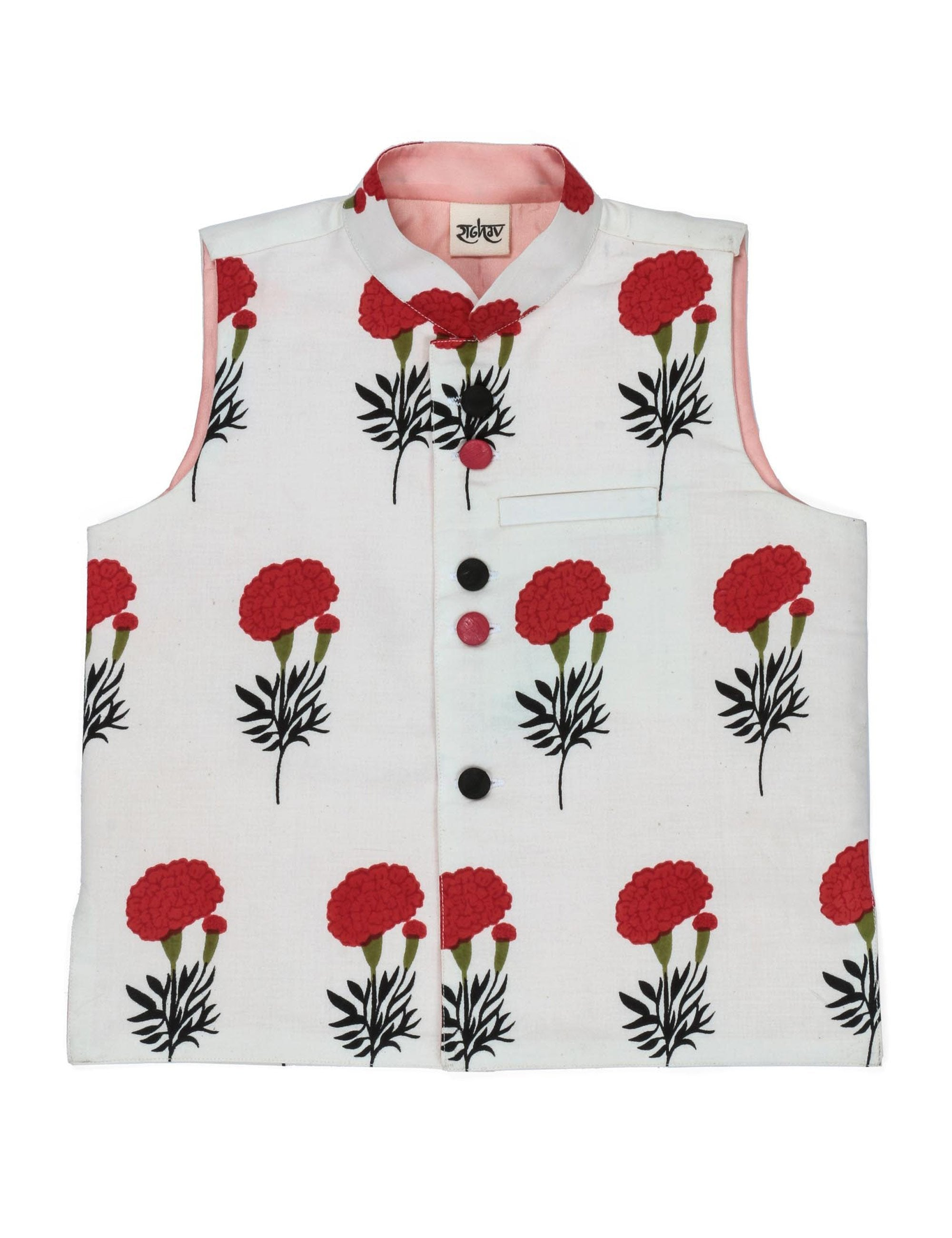 Floral Fantasy Cotton Jacket for Boys