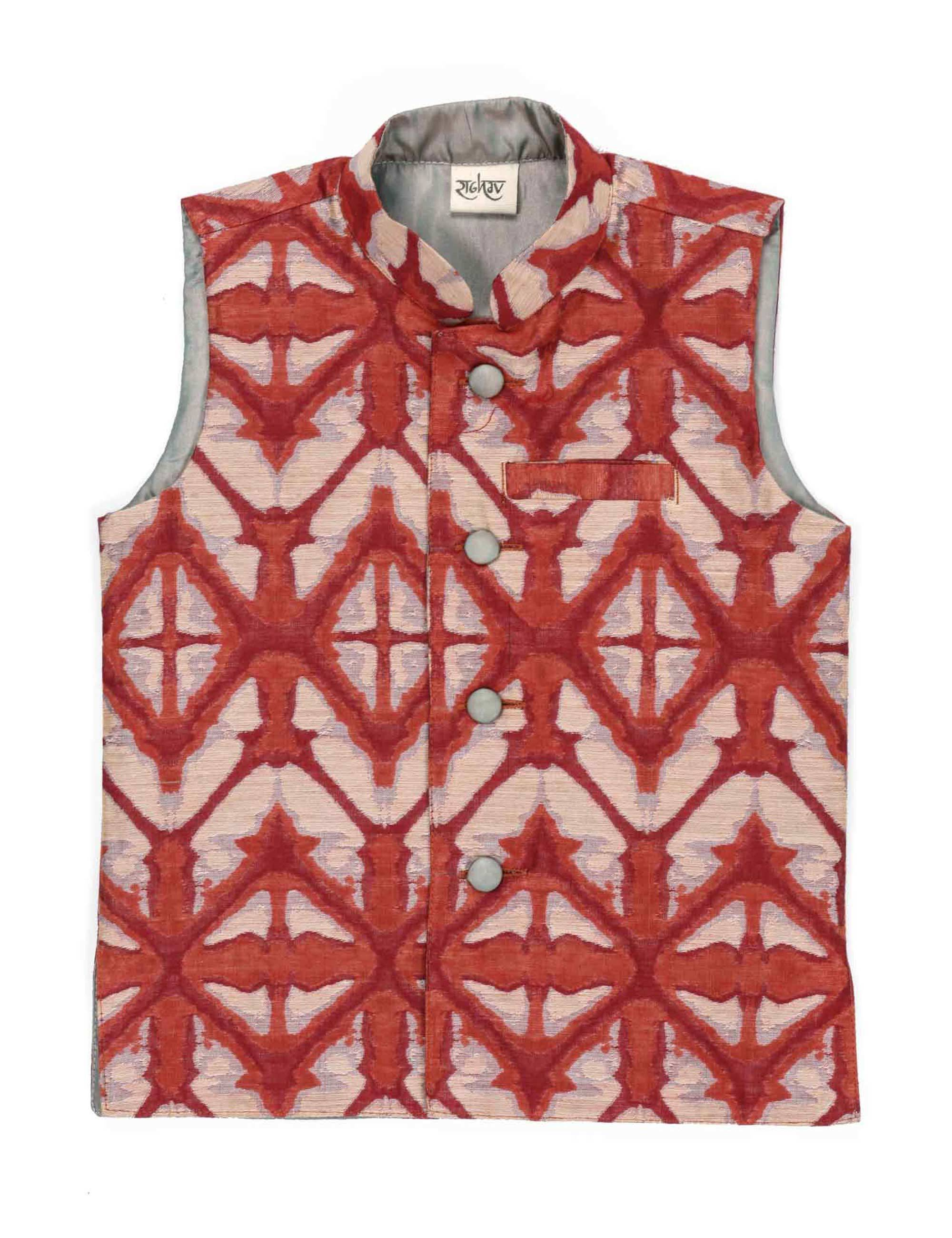 Chanderi Printed Jacket for Boys