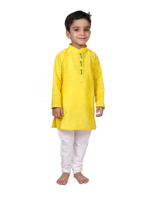 Yellow Kurta Pyjama Set for Boys