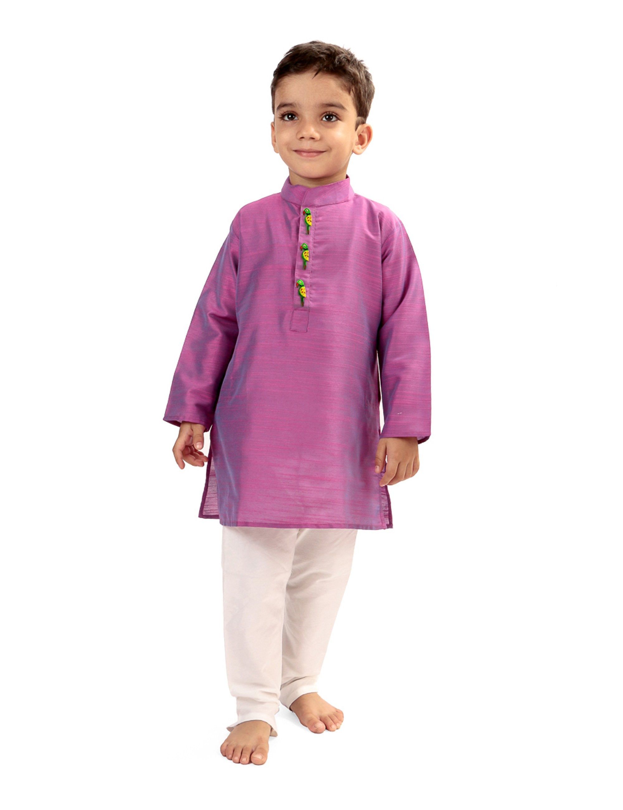 Lavender Kurta Pyjama Set for Boys