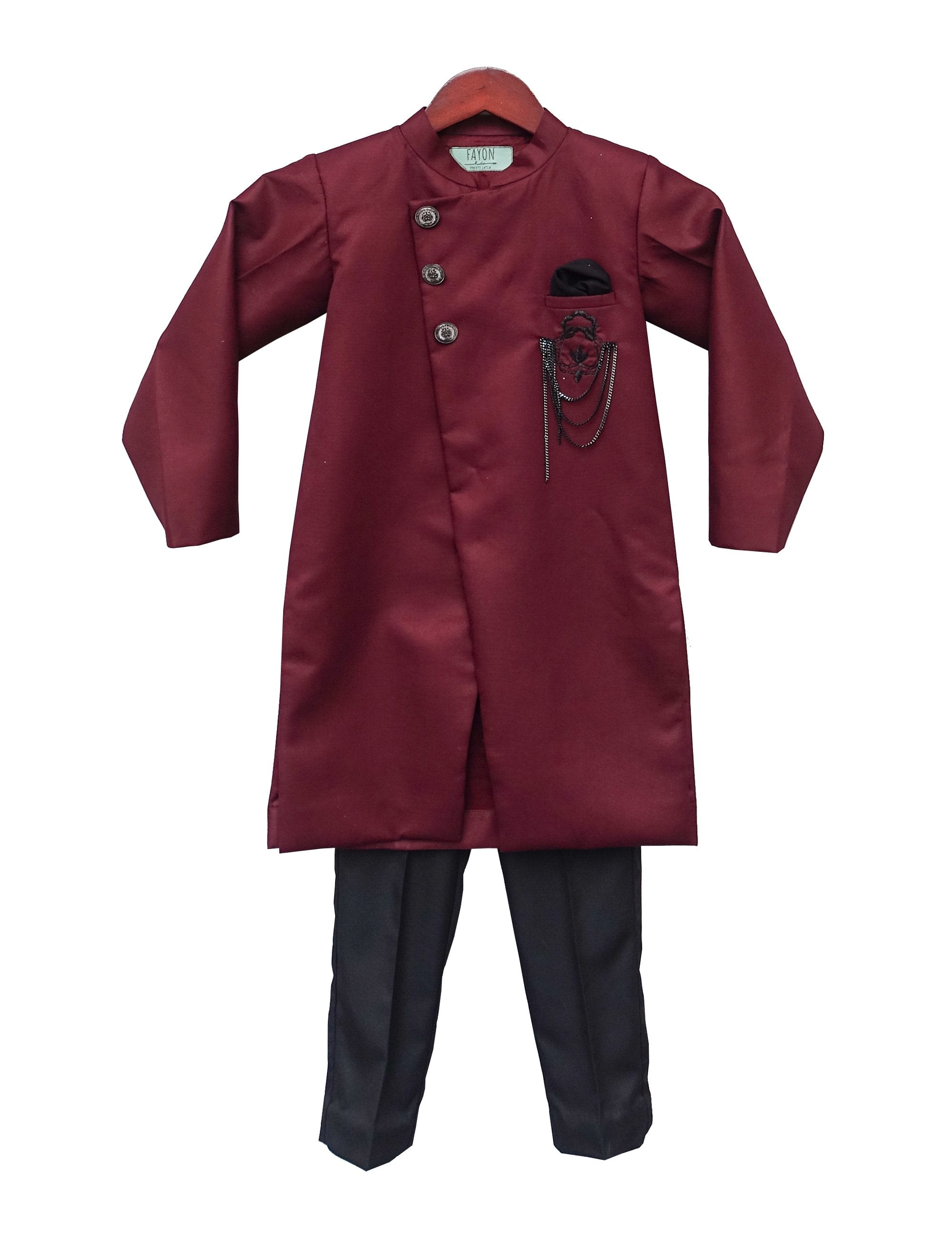 Maroon Ajkan with Pant