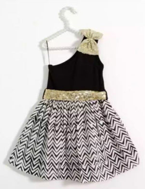 Black and White Pretty Girls Dress