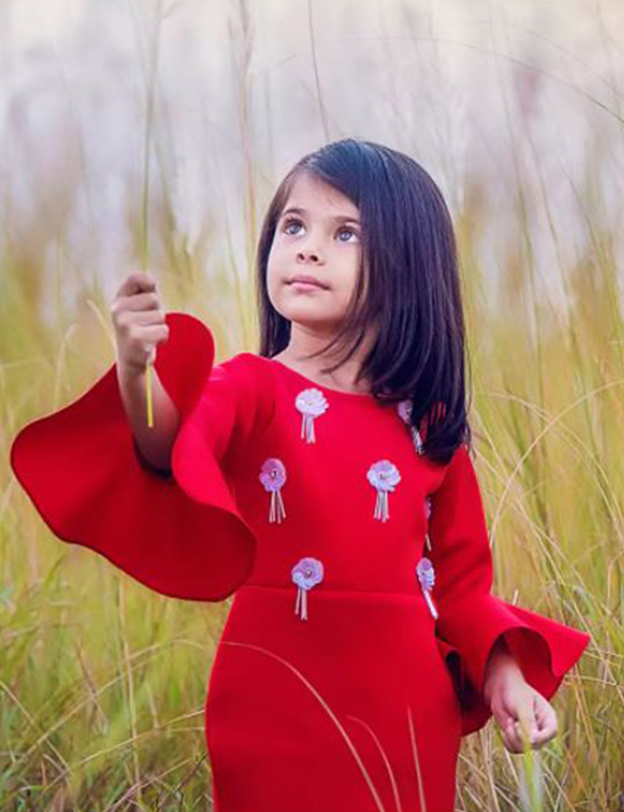 Stylish Red Dress for girls