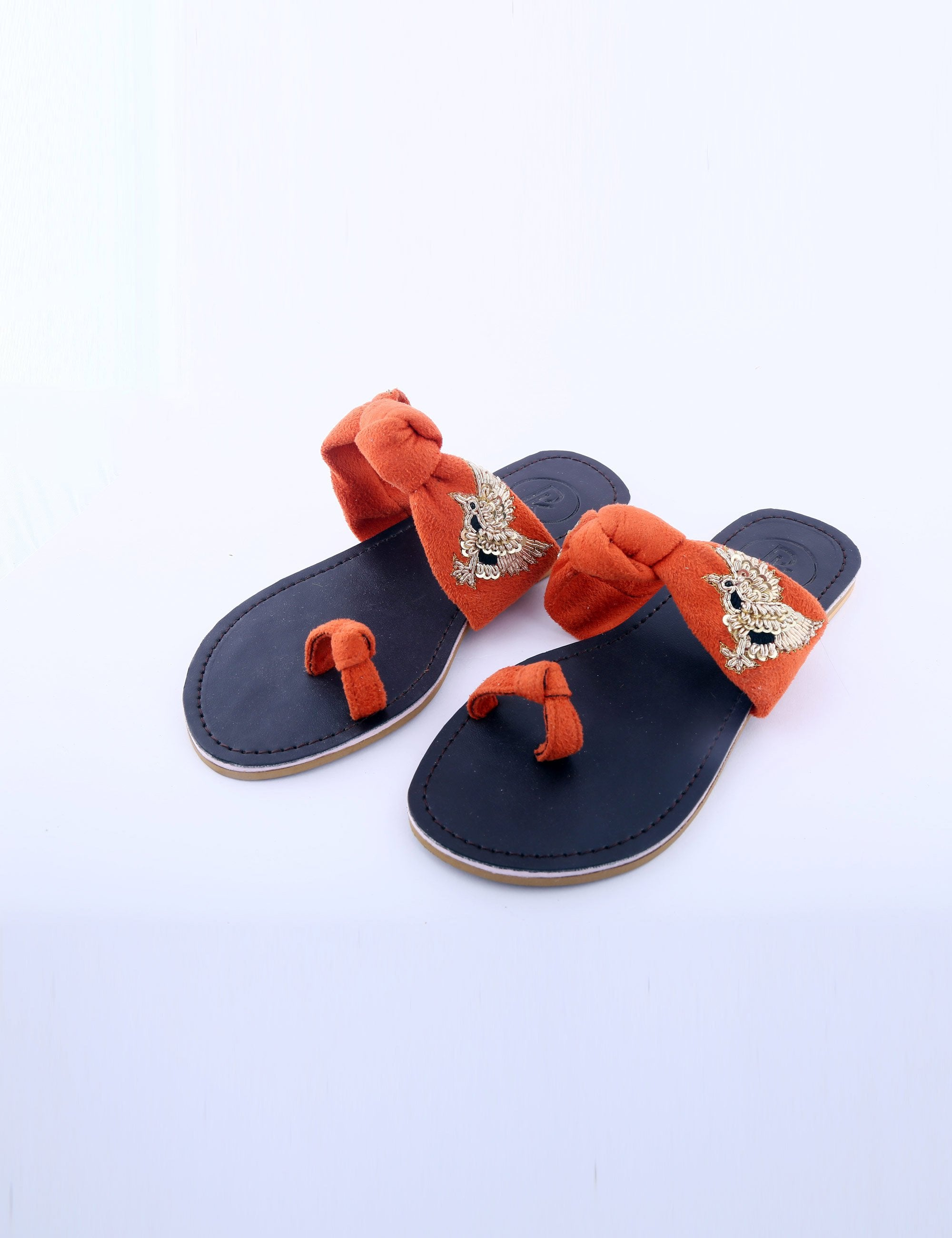 Orange Birds Flat for Girls