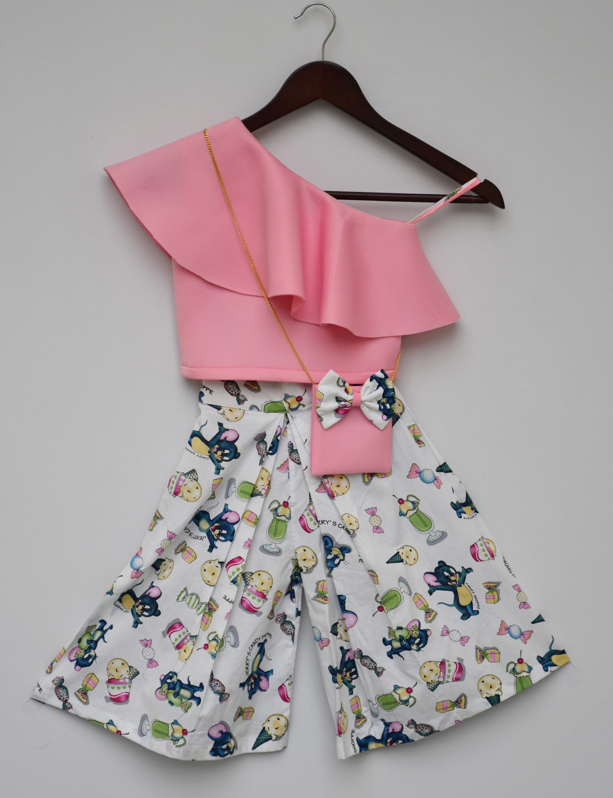 099e6180386 Buy Pink Crop Top with Pallazo for girls at best Price - Mini Firgun