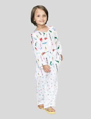 Printed Music Cotton Night Suit for Boys & Girls
