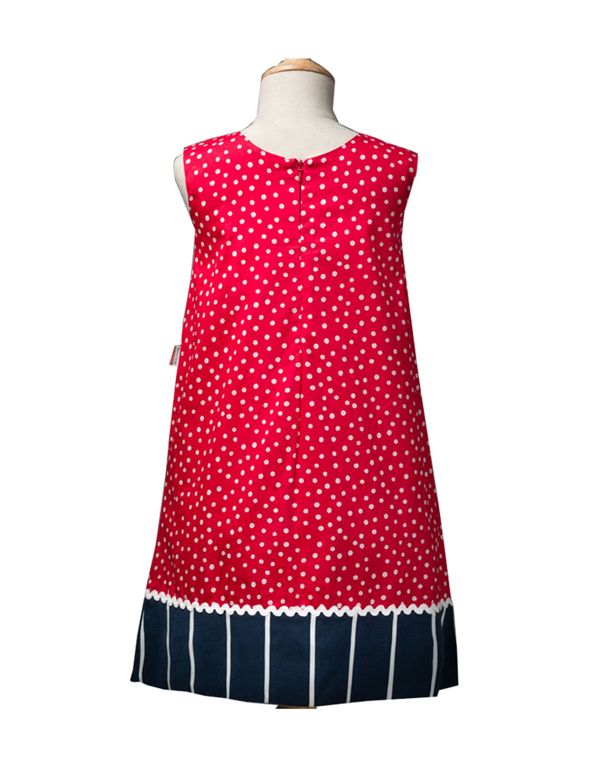 Bright and Trendy Shift Dress in Red and Blue Colour for Girls