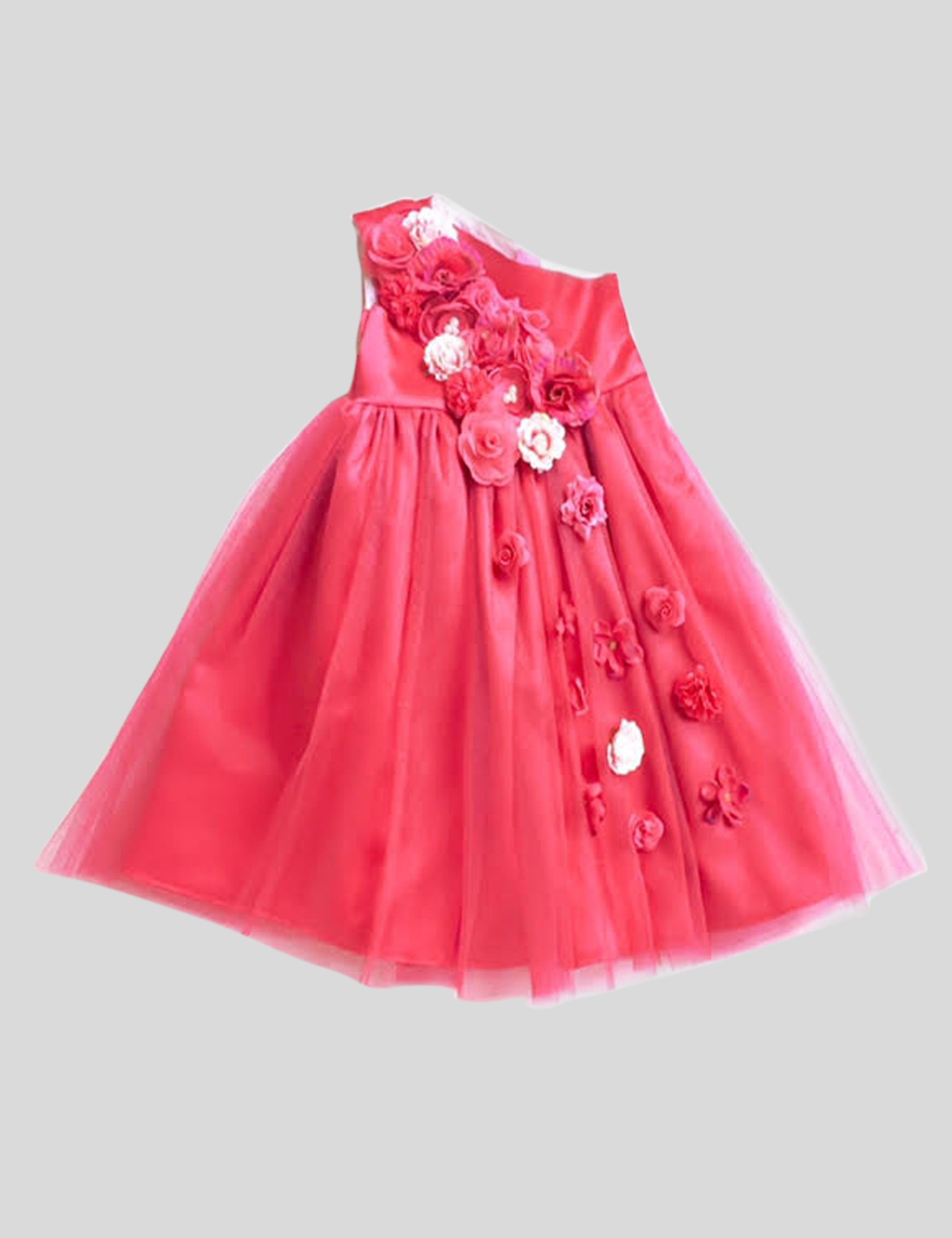 Red Iris Gown in Red Colour for Girls