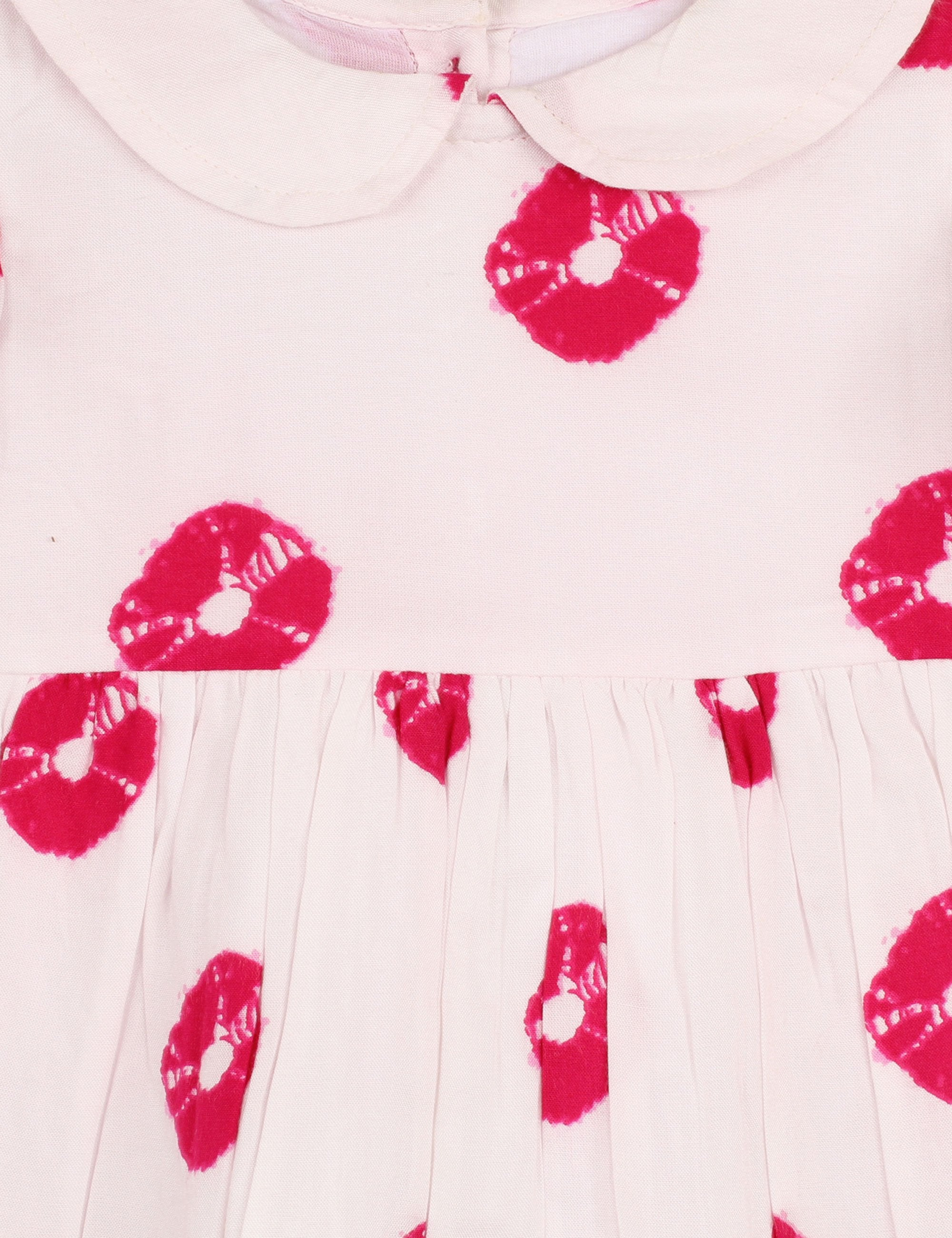 Tie Dye Print Dress in Pink Colour for Girls