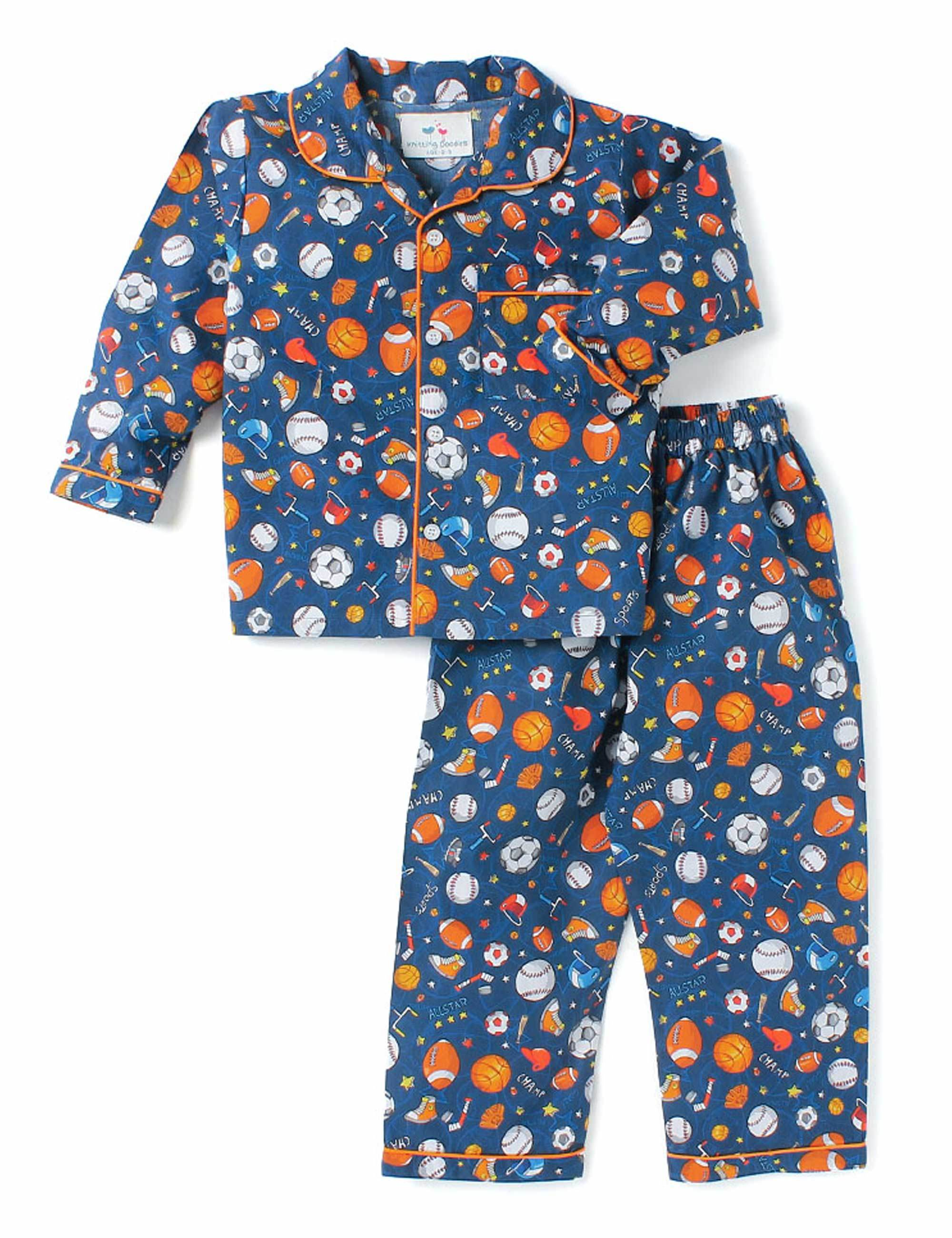 Outdoor Sports Print Night Suit for Boys