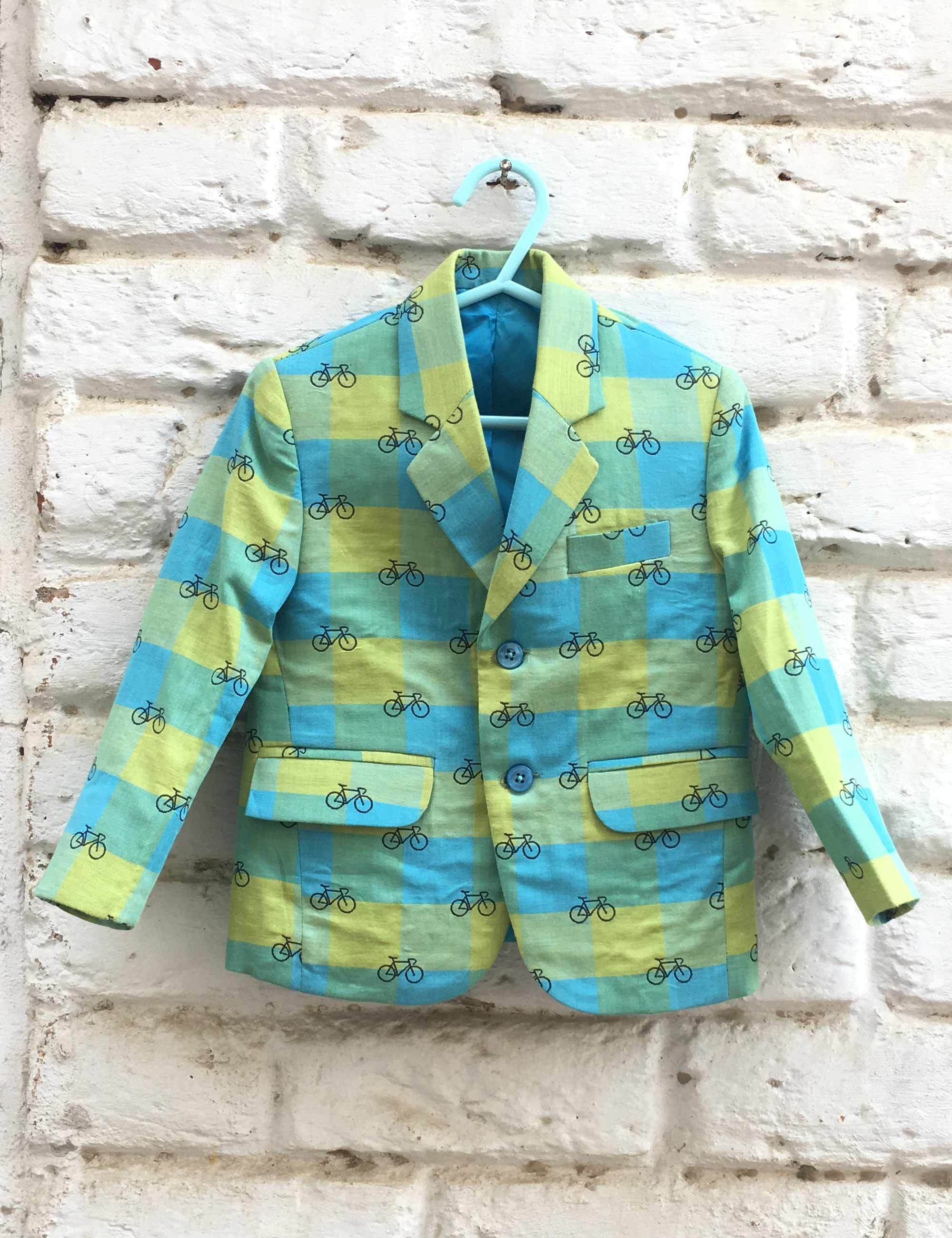 Cycle Print Blazer