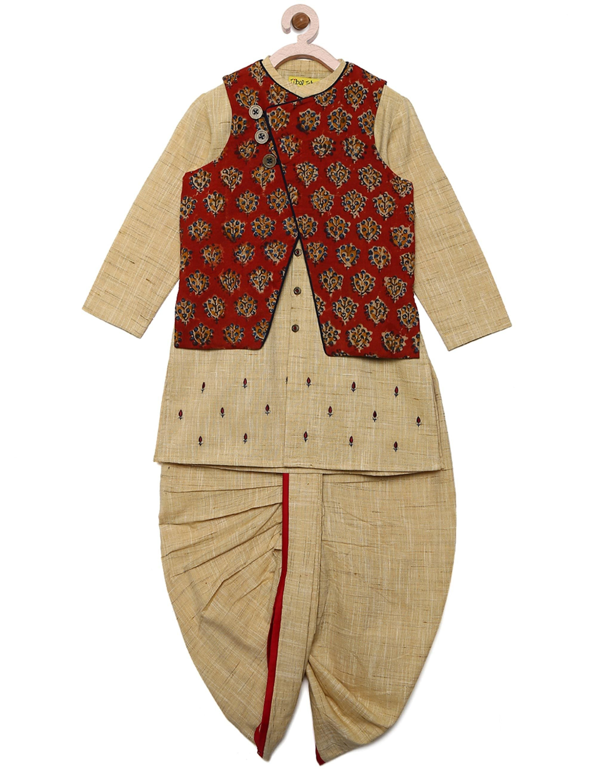 Traditional Nehru Jacket Set for Boys.