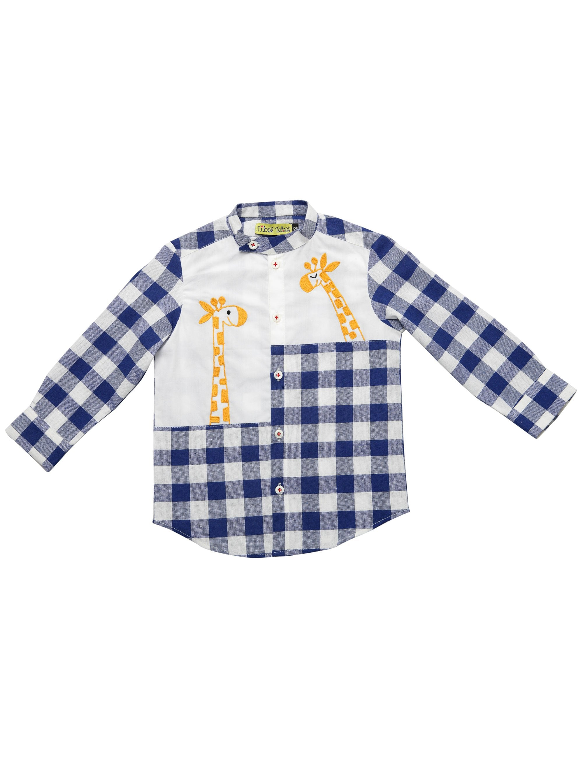 Checks Shirt in Blue and White Colour for Boys