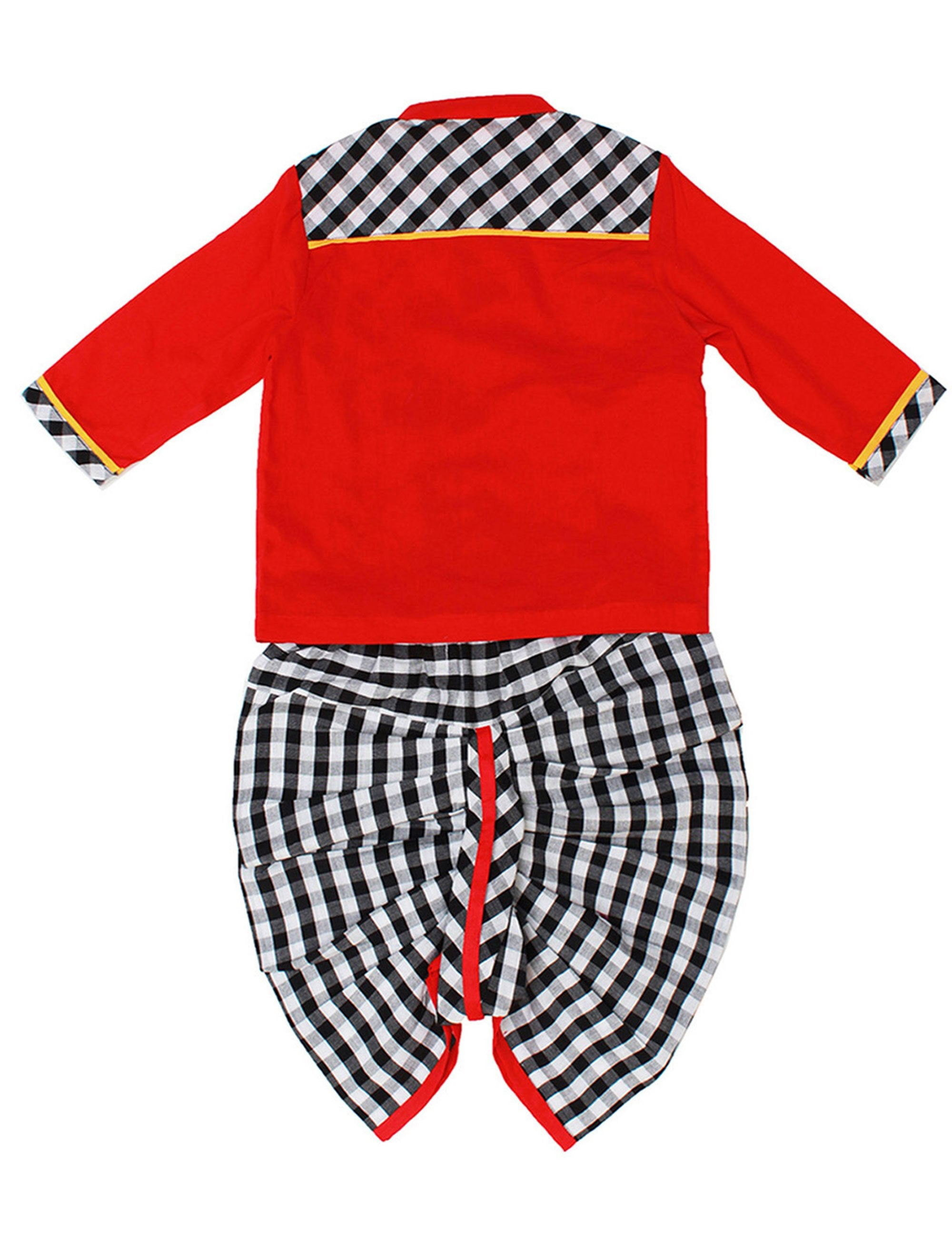 Dhoti-Kurta in Red Colour for Boys