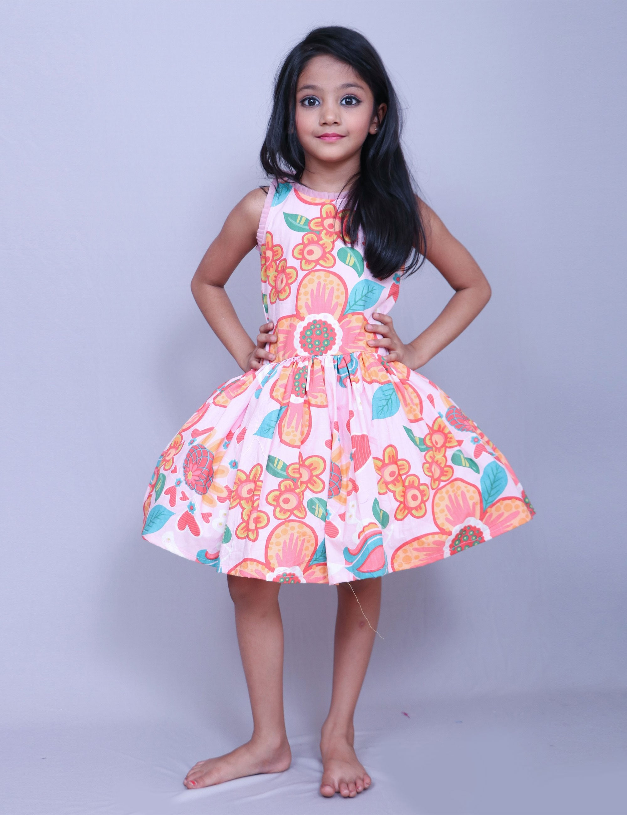 497dba6b6213 Buy Floral Print Frock for Girls at best Price - Mini Firgun