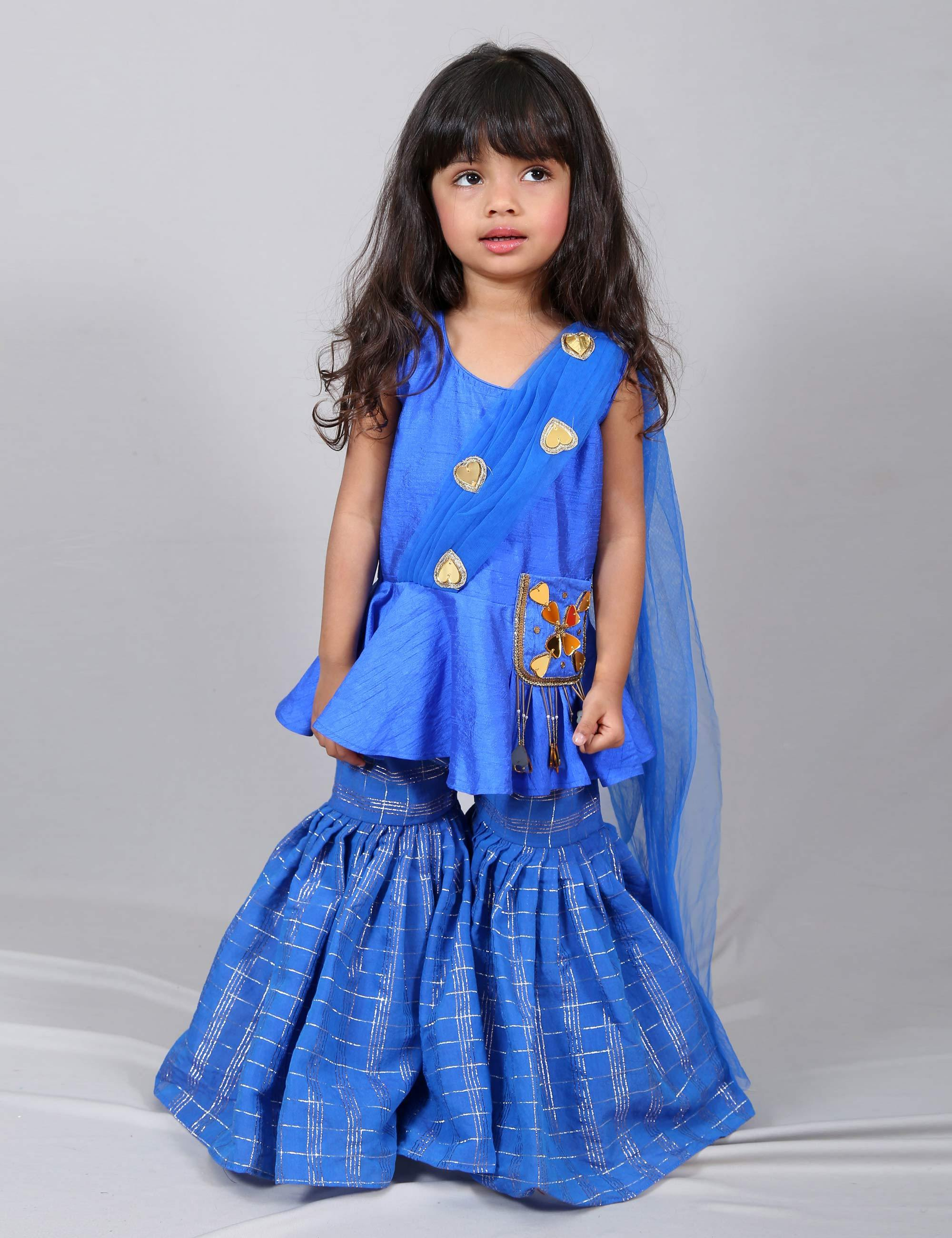 Ethnic Blue Sharara for Girls
