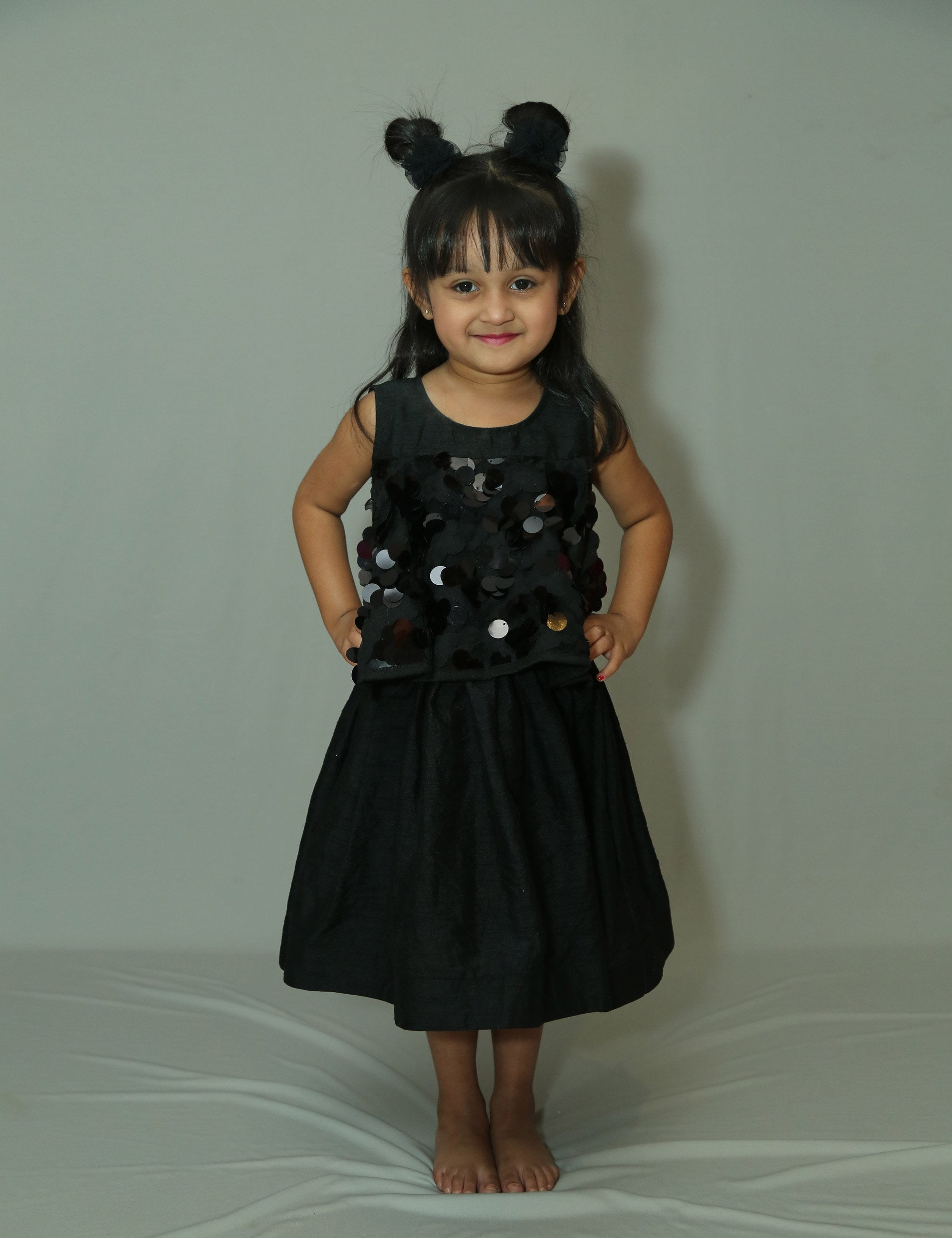 Fit and flary Sleeveless  black dress