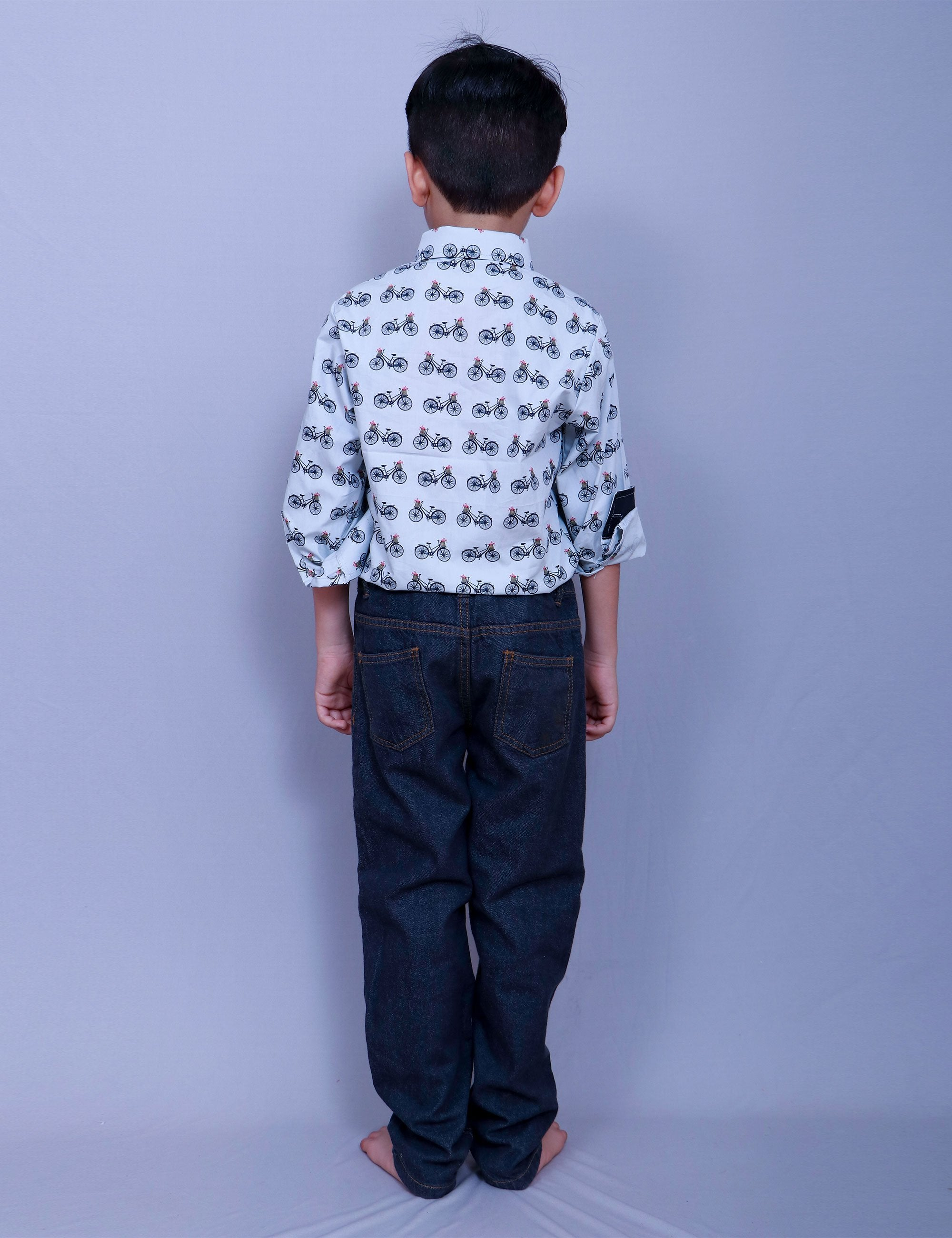 Cycle Print Shirt for Boys