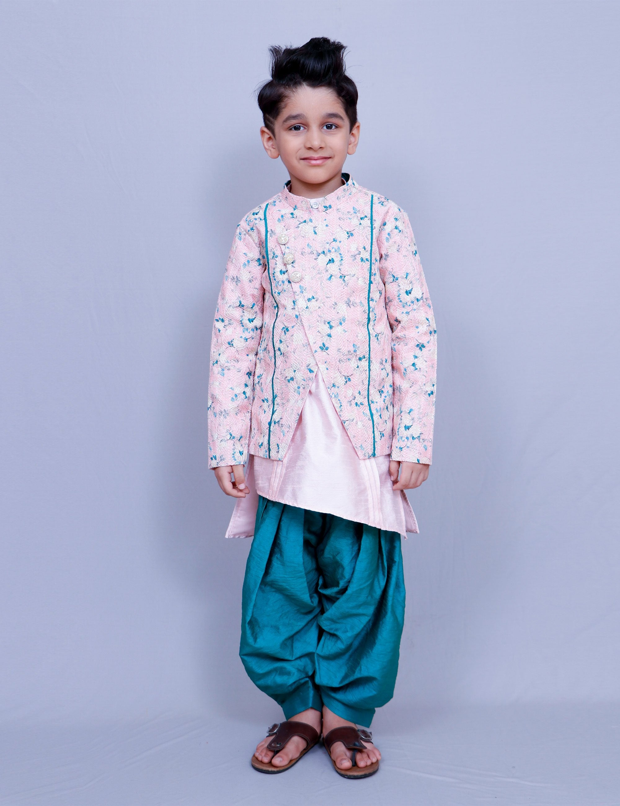 Embroidered Jacket Set for Boys