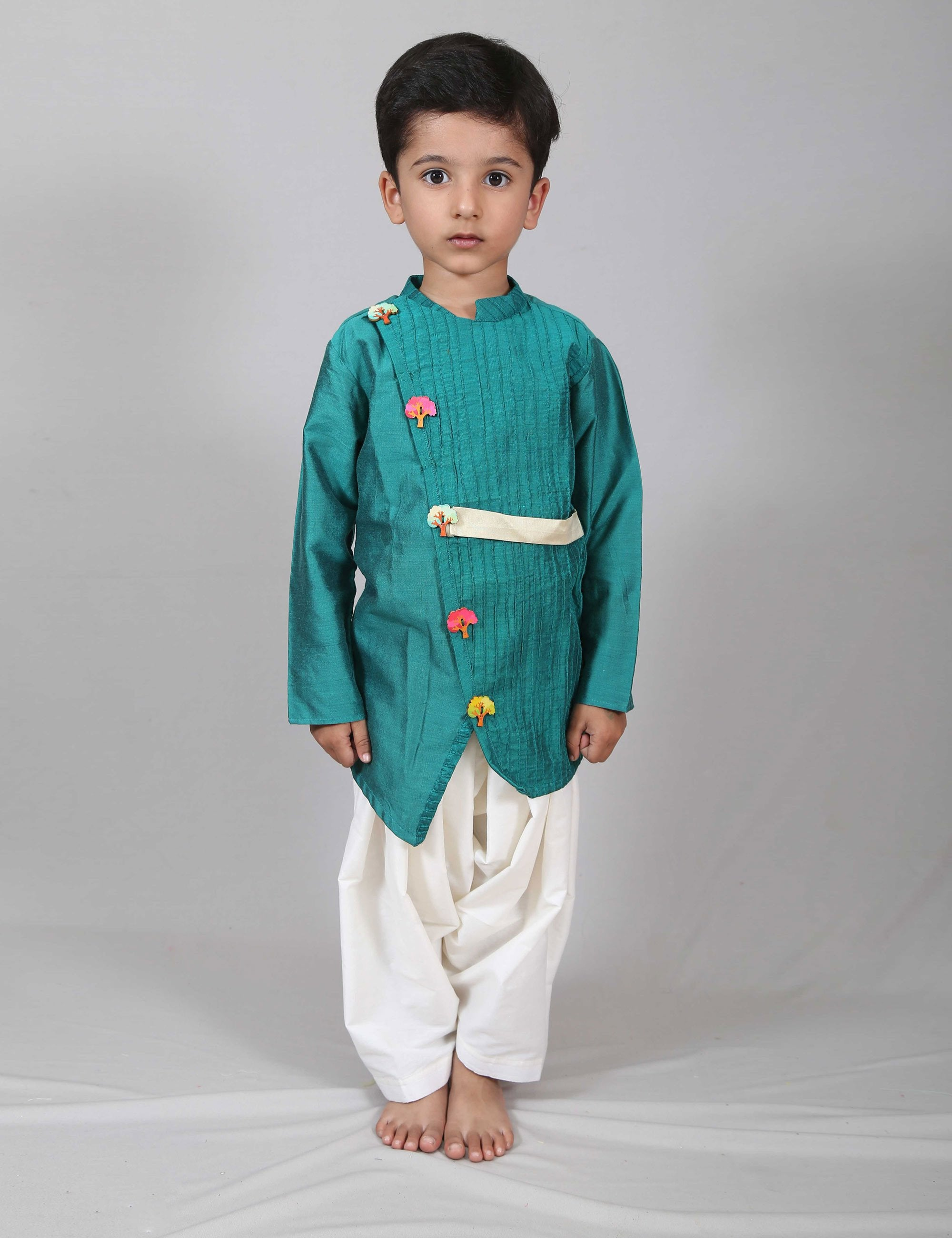 Pintex Kurta with Patiala Salwar for Boys
