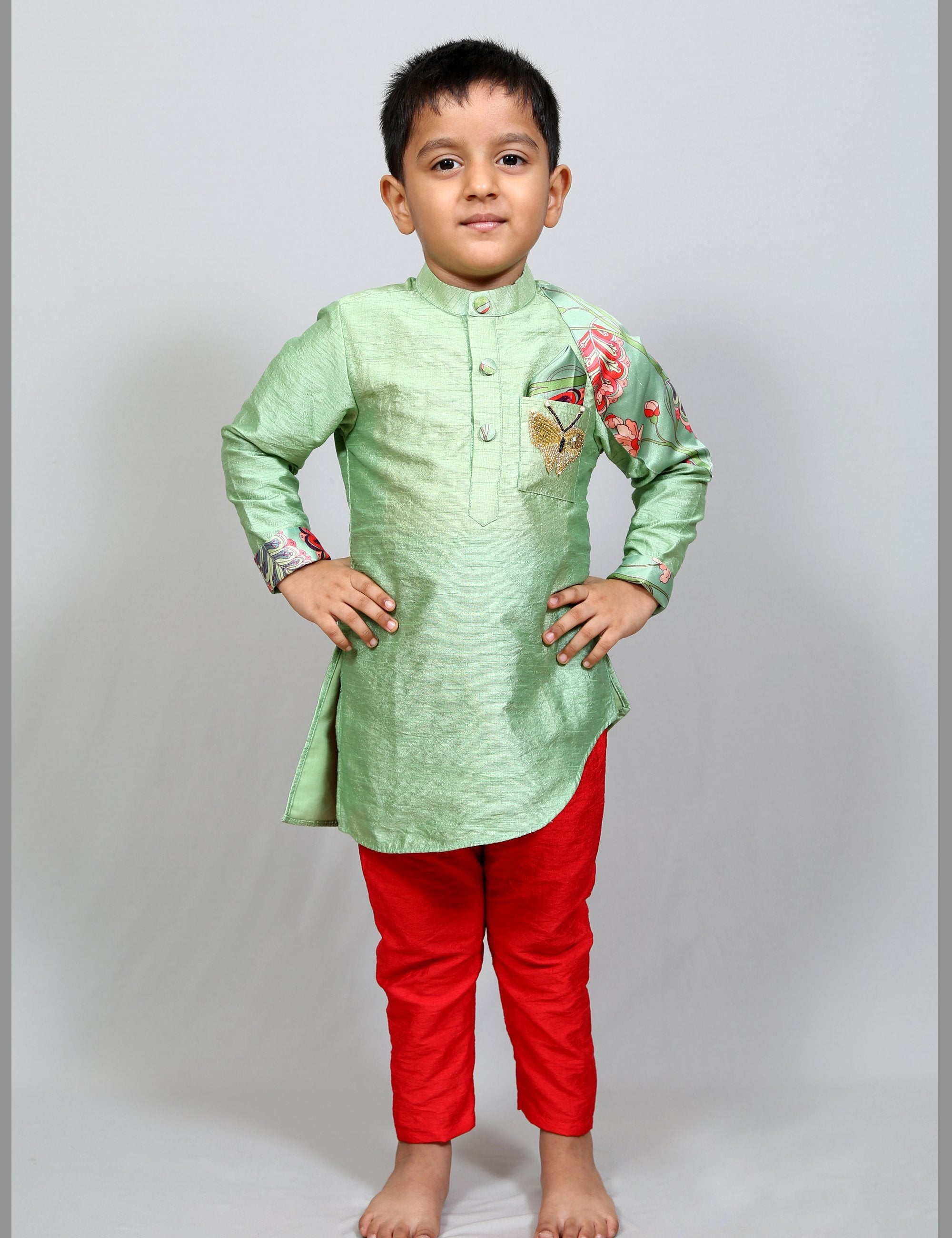 A Symetrical Kurta with Pant