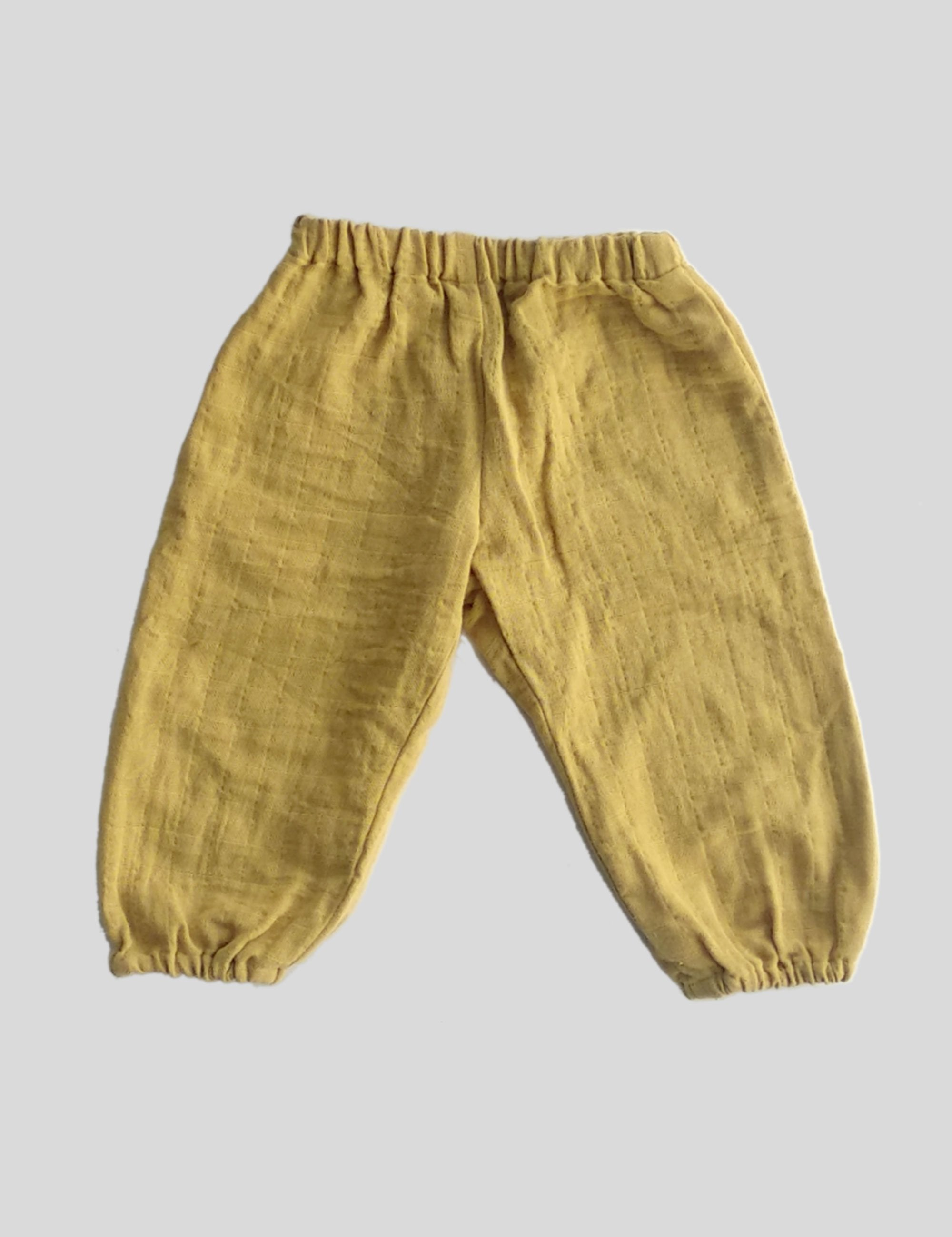 Two Sided Pockets Balloon Pants in Yellow for Boys