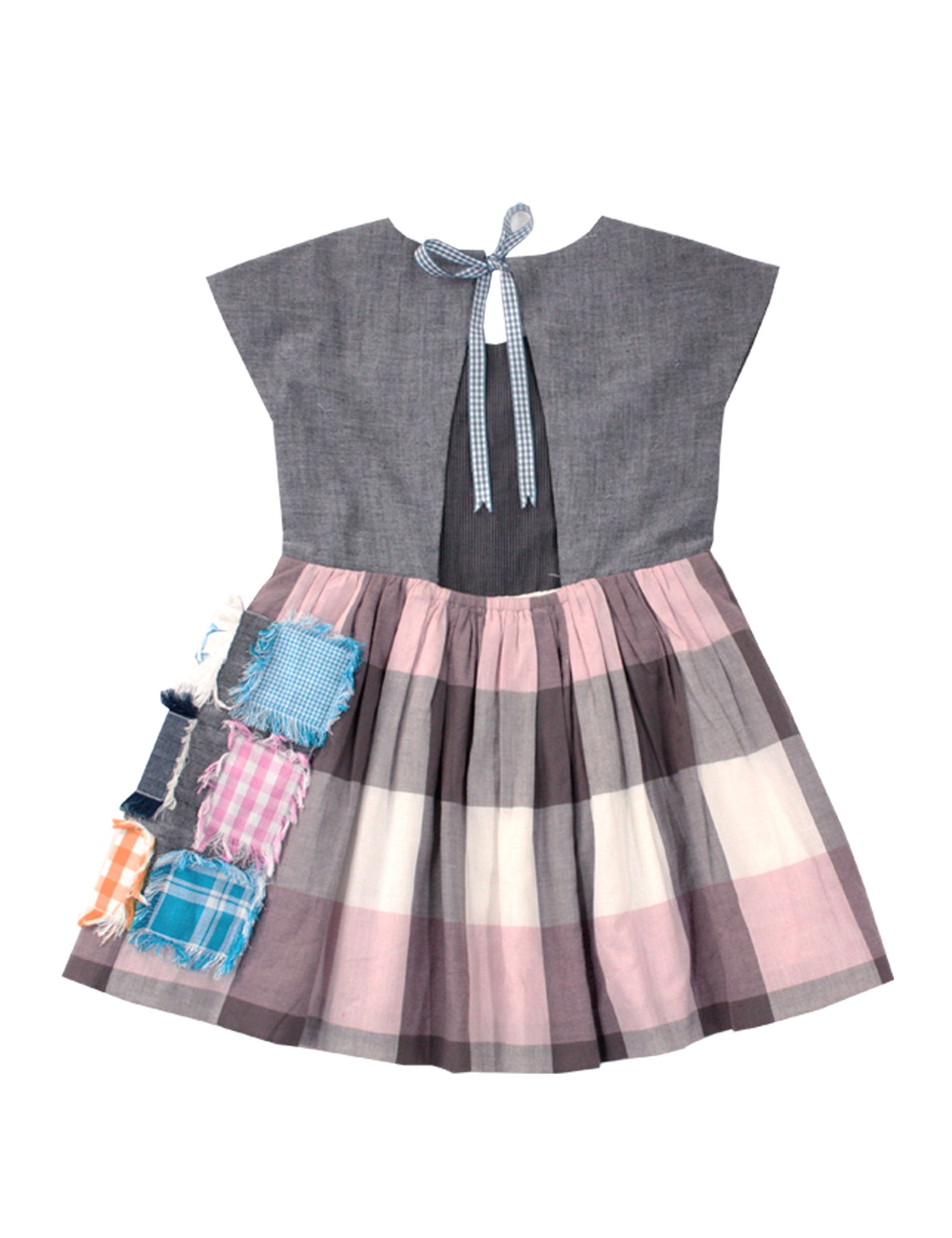 Cotton Casual Dress in Grey Colour for Girls