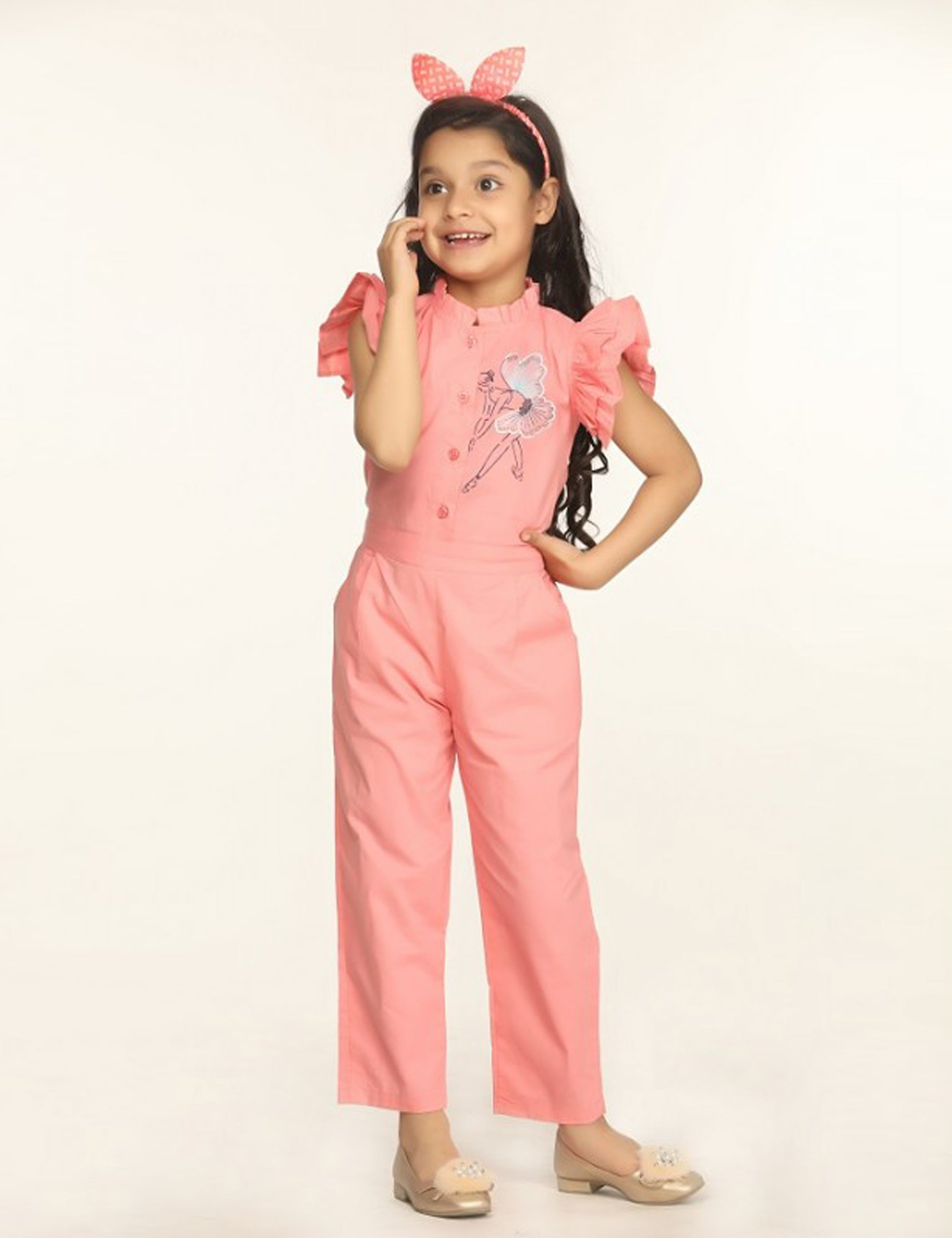 Ballerina Embrodiery Full Jumpsuit