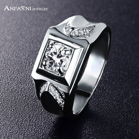 Men's Silver Ring Cubic Stone