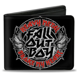 Fall Out Boy Heavy Metal Broke my Heart Bifold Wallet