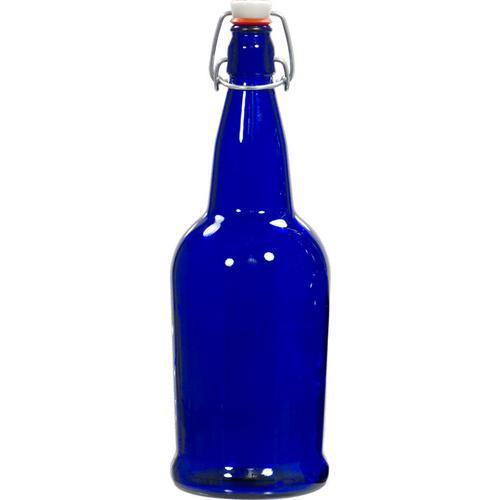 Cobalt Blue 32 oz EZ Cap Glass Bottle
