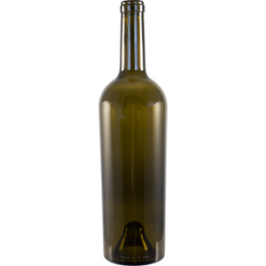 750 ml Wine Bottle - Antique Green, Tapered