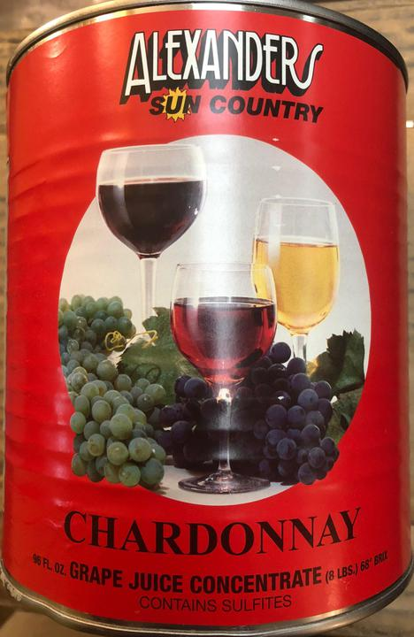 Chardonnay Wine Concentrate - 96 oz