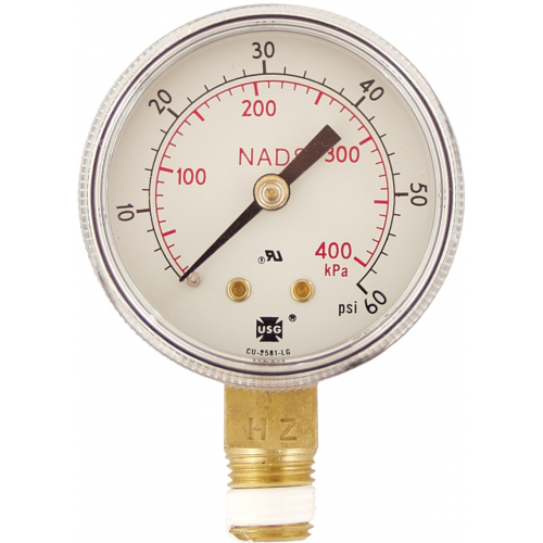 Gauge - Low Pressure (0-60 psi)