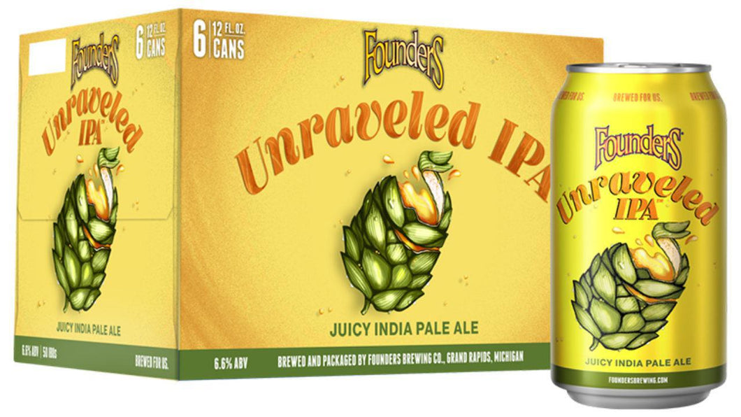 Founders Unraveled juicy IPA- 12 oz can