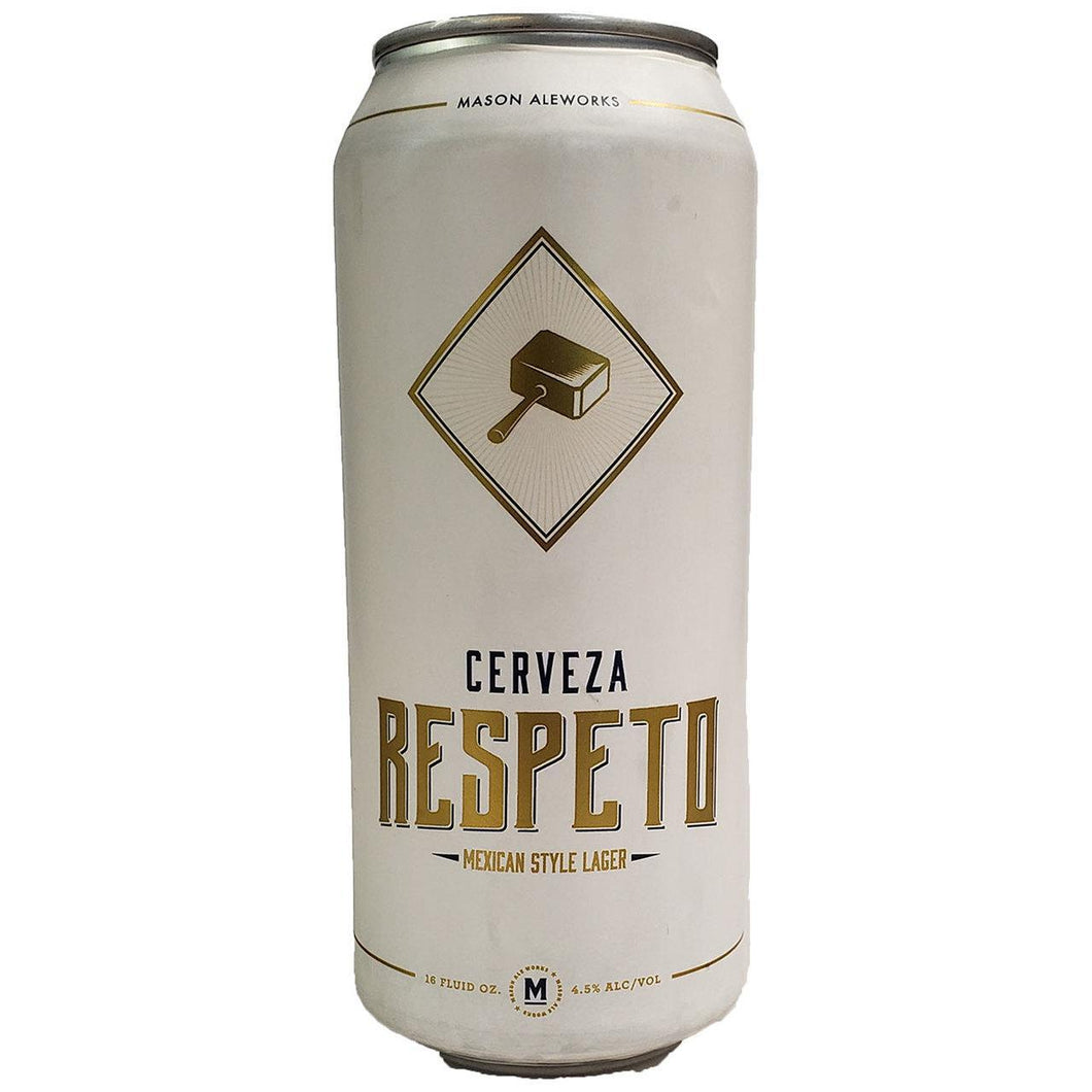 Respeto Lager - Mason Ale Works - 16 oz can
