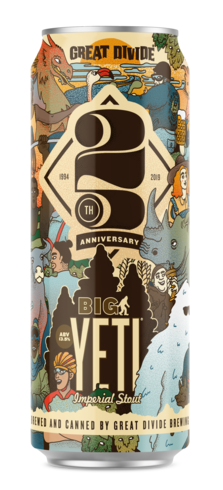 Big Yeti - Great Divide - 19.2 oz can