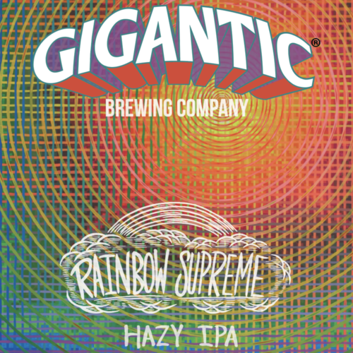 Rainbow Supreme Hazy IPA - Gigantic Brewing co - 500 ml bottle