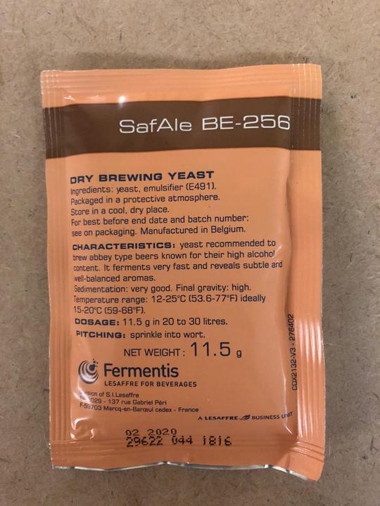 Safbrew BE-256 Dry Yeast